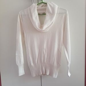 Banana Republic White Cowl Sweater